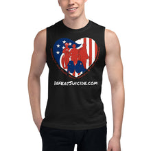 Load image into Gallery viewer, Defeat Suicide Muscle Shirt