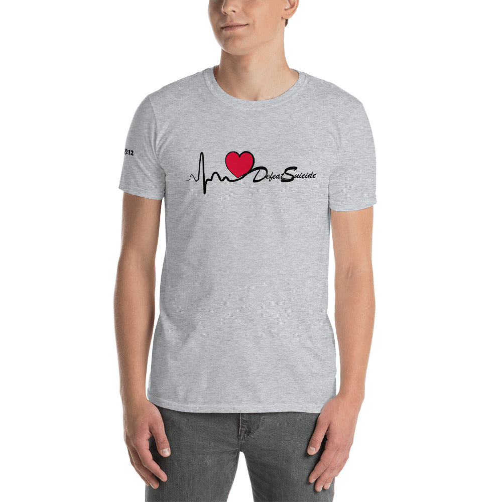 Men's Heartbeat Defeat Suicide T-Shirt