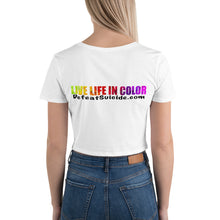 Load image into Gallery viewer, Live Life In Color Crop Tee - Light