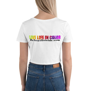 Live Life In Color Crop Tee - Light