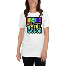 Load image into Gallery viewer, Broken Crayons Still Color T-Shirt - Light