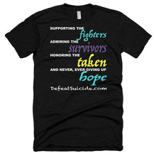 Load image into Gallery viewer, Never Give Up Hope Short Sleeve Soft T-shirt
