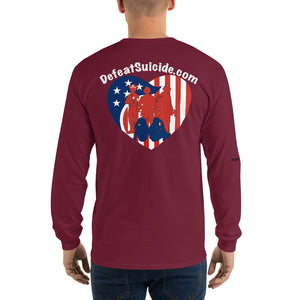 Heartbeat Defeat Suicide Long Sleeve T-Shirt