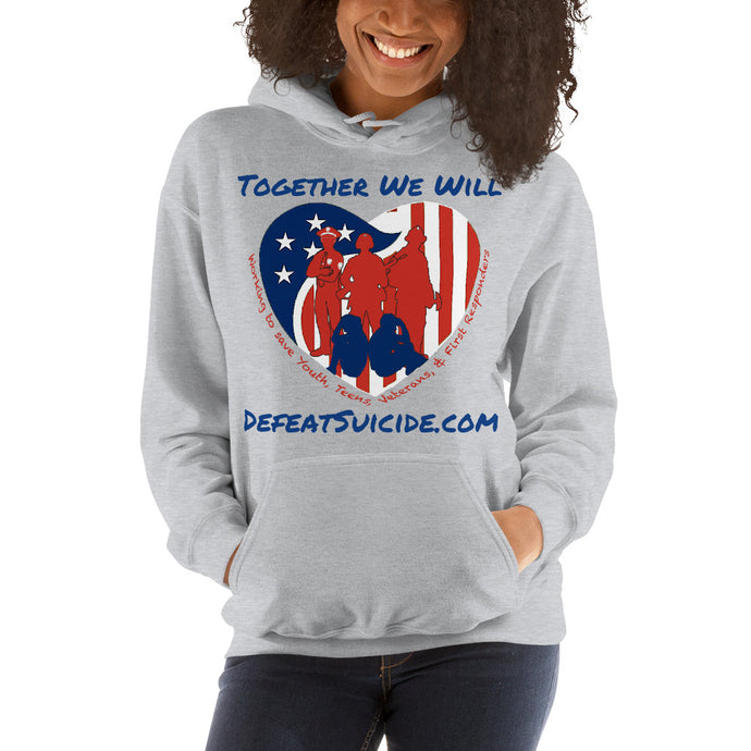 Together We Will Defeat Suicide Heavy Blend Hooded Sweatshirt