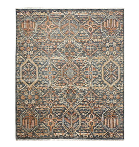 Price Hand-Knotted Rug - Blue 10' x 14'