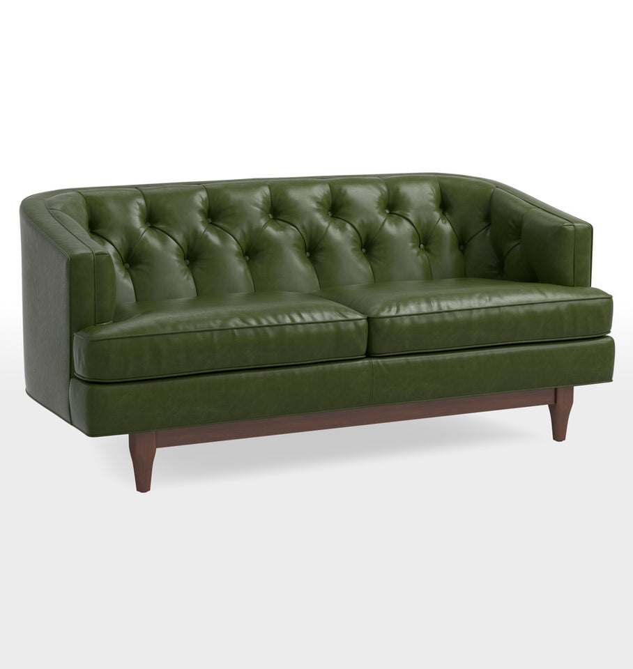 Monrowe Leather Loveseat