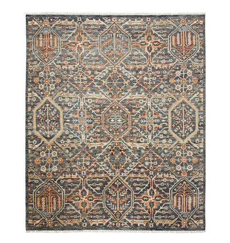 Price Hand-Knotted Rug - Blue   9' x 12'