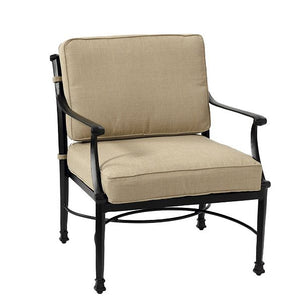 AMALFI OUTDOOR LOUNGE CHAIR WITH CUSHIONS