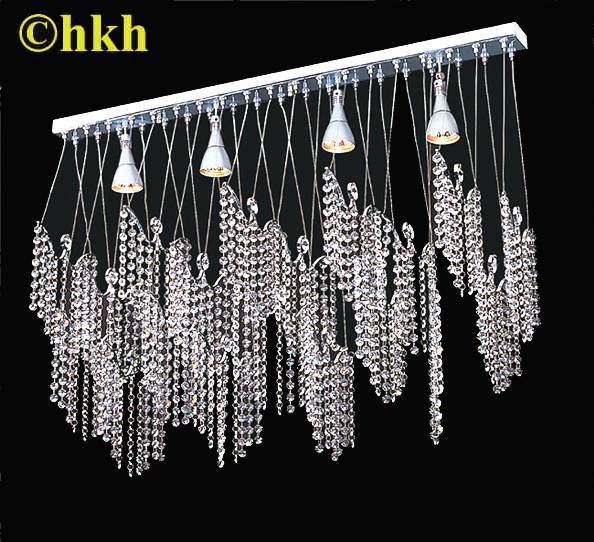 Modern Waterfall Chandelier with Swarovski Crystal