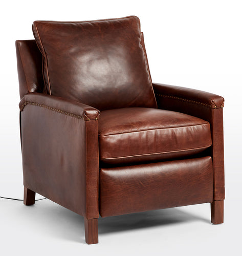 THORP LEATHER POWER RECLINER CHAIR
