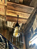 Handmade Single Cage Pendant Light