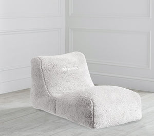 Charcoal Tweed Bean Chaise Lounger