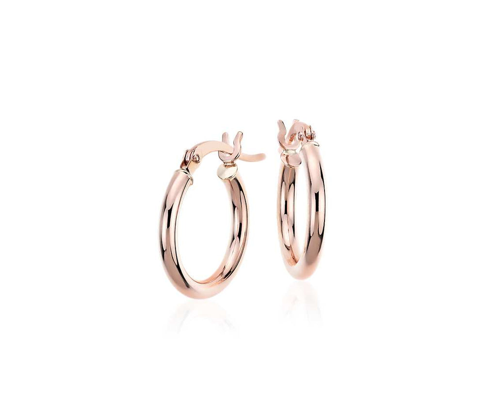 Palmo 18kt Rose Gold Plated Fashion Hoop Earrings