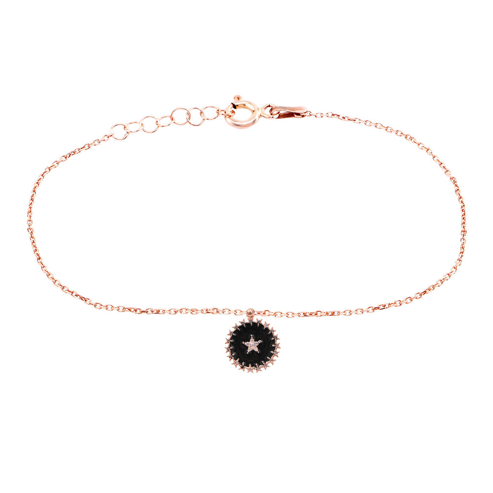 Palmo Sterling Silver Star Anklet PLM1713AR