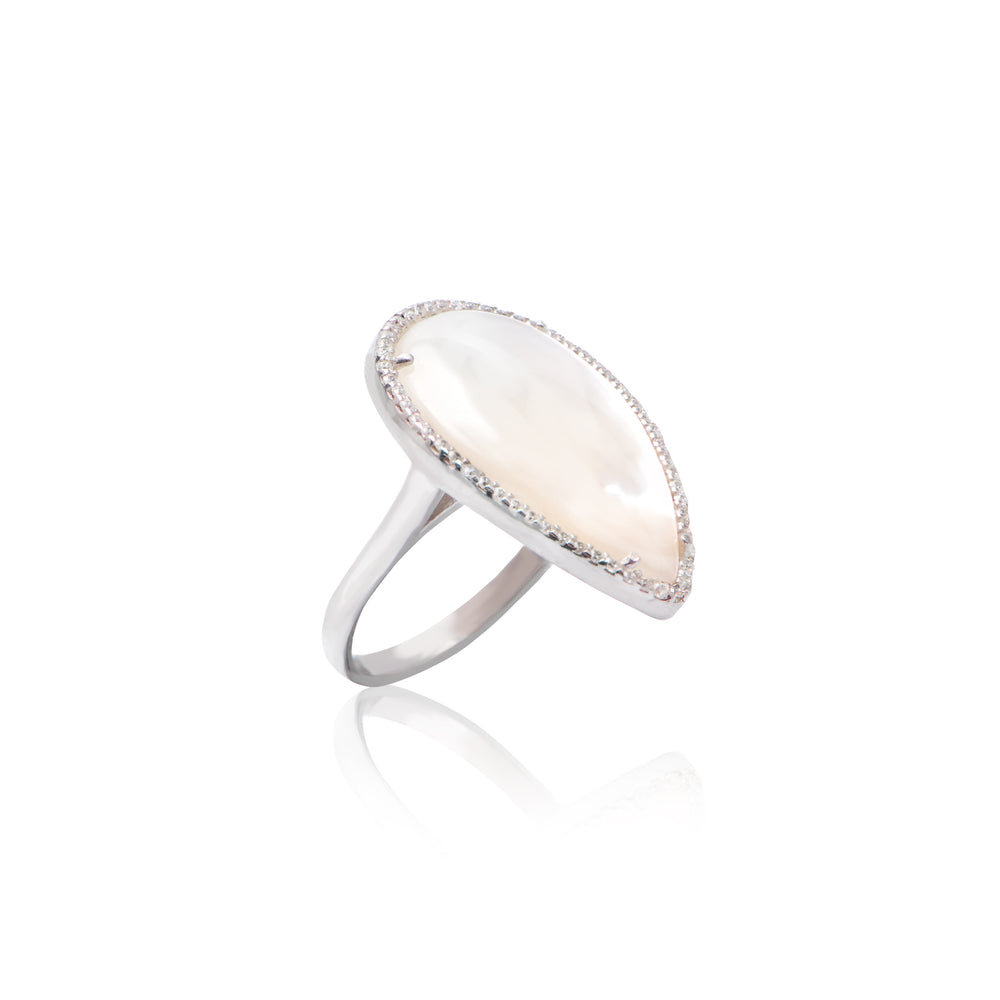 Palmo Sterling Silver Mother of Pearl Ring PLM1498R