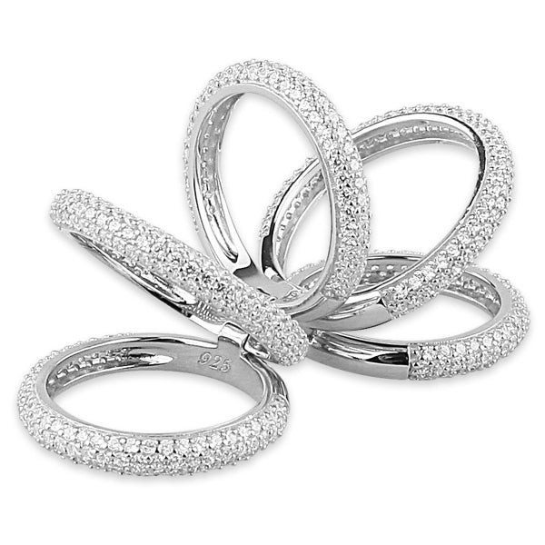Palmo Sterling Silver Multiple Ring PLM1510R