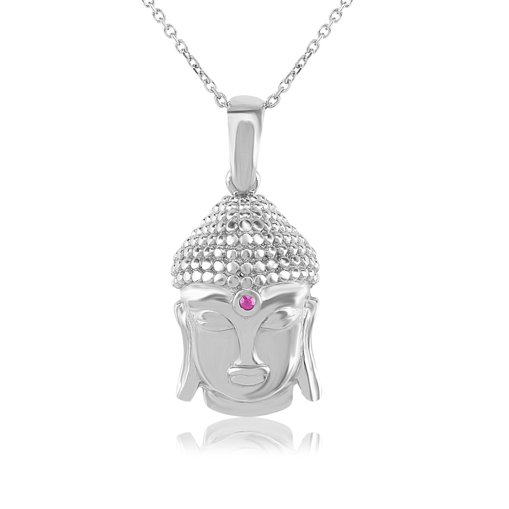 Palmo Sterling Silver Buddha Necklace PLM1297NS