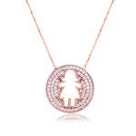 Palmo Sterling Silver Girl Necklace PLM1029N