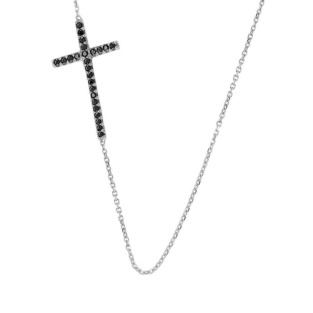 Palmo Sterling Silver Double-Sided Cross Necklace PLM1031N