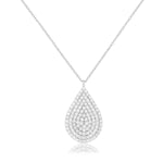 Palmo Sterling Silver Drop Necklace PLM1087N