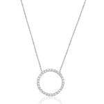 Palmo Sterling Silver Circle Necklace PLM1834N