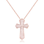 Palmo Sterling Silver Cross Necklace PLM1288NR
