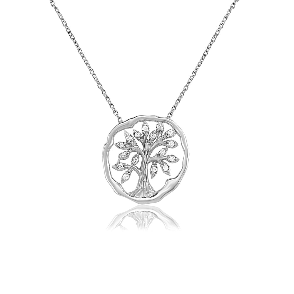 Palmo Sterling Silver Tree Necklace PLM1314N