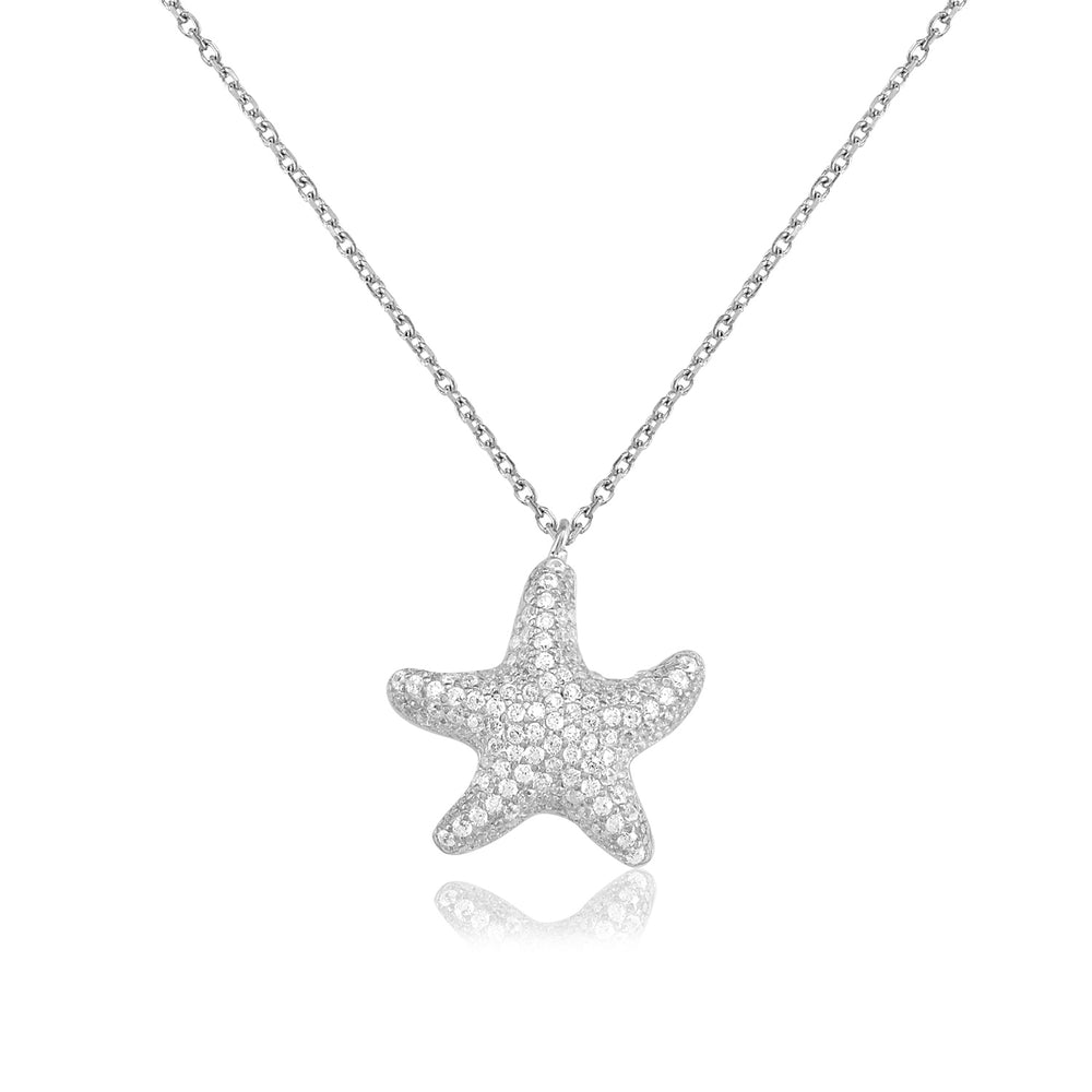 Palmo Sterling Silver Starfish Necklace PLM1111N
