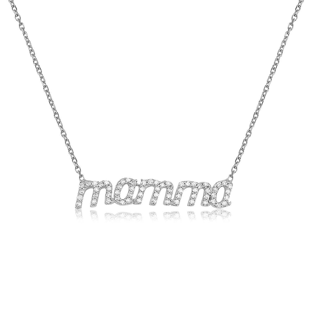 Palmo Sterling Silver Mamma Necklace PLM1002N