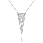 Palmo Sterling Silver Pyramid Necklace PLM1015NS