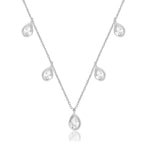 Palmo Sterling Silver Drop Necklace PLM1755N