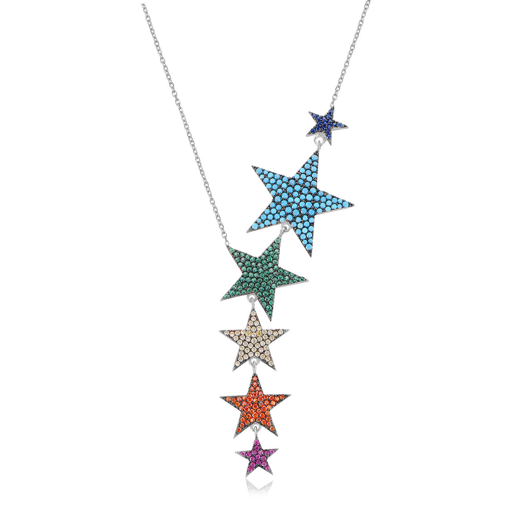 Palmo Sterling Silver Star Necklace PLM1182N
