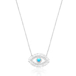 Palmo Sterling Silver Eye Necklace PLM1832N