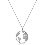 Palmo Sterling Silver World Necklace PLM1024N