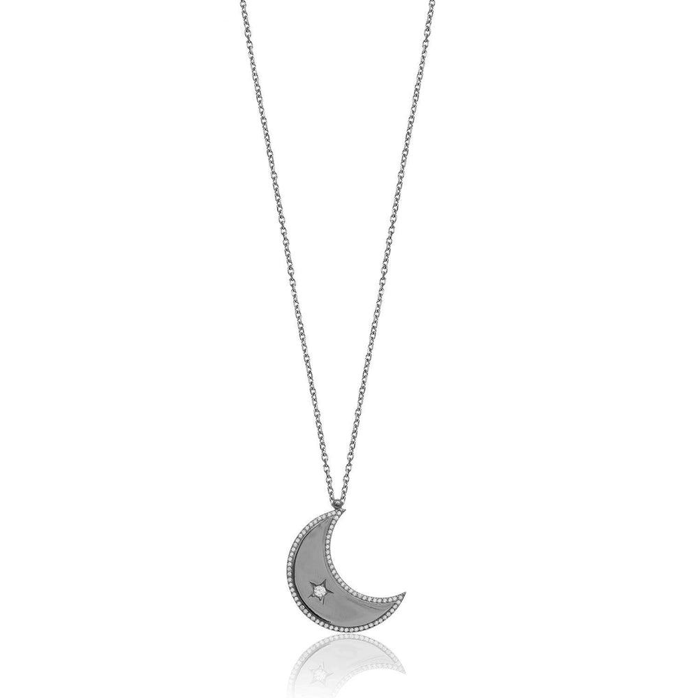 Palmo Sterling Silver Moon Necklace PLM1004N