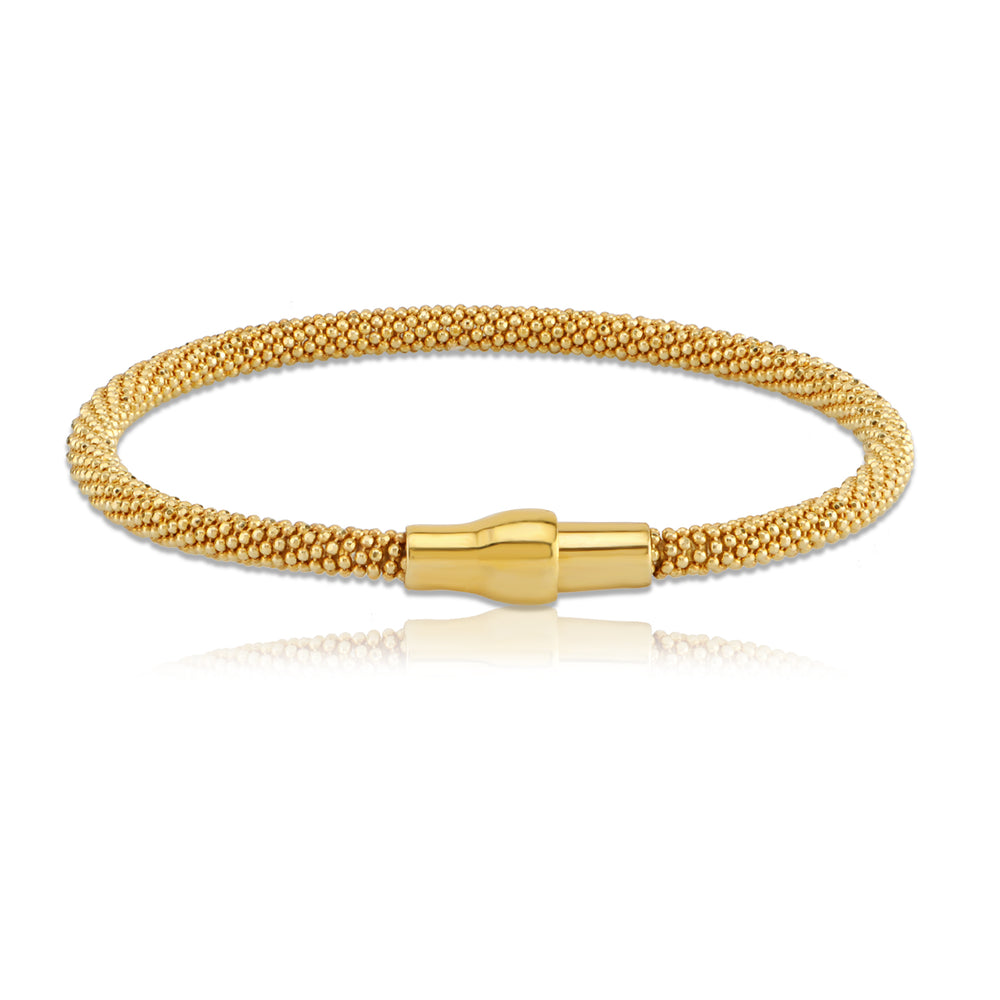 Palmo 18kt Gold Plated Braided Magnetic Bangle Bracelet