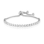 Palmo Sterling Silver Handmade Adjustable Tennis Bracelet PLM1825B