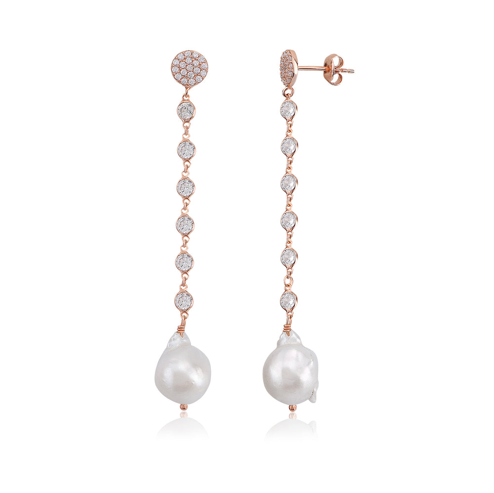 Palmo Sterling Silver Baroque Pearl Earrings PLM1564E