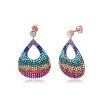 Palmo 18kt Rose Gold Plated Rainbow Earrings