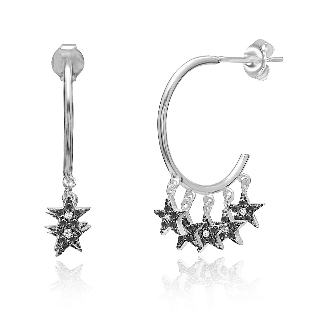 Palmo Sterling Silver Stars Earring PLM1726ES