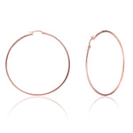 Palmo Sterling Silver Hoop Large Earrings PLM1668E20R