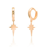 Palmo Sterling Silver North Star Earring PLM1653E