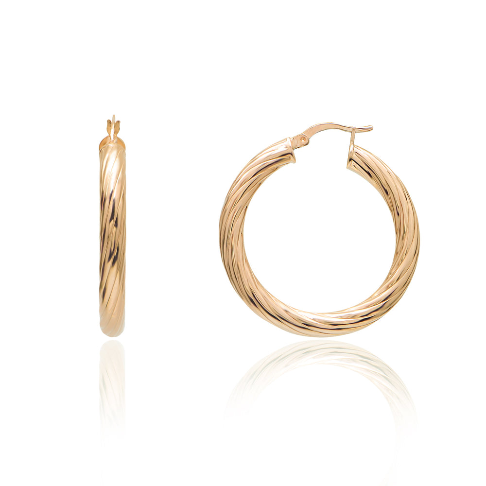 Palmo 18kt Gold Plated Fashion Hoop Earrings