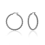 Palmo 18kt White Gold Plated Fashion Hoop Earrings