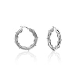 Palmo Sterling Silver Hoop Small & Medium Earrings PLM1668E24