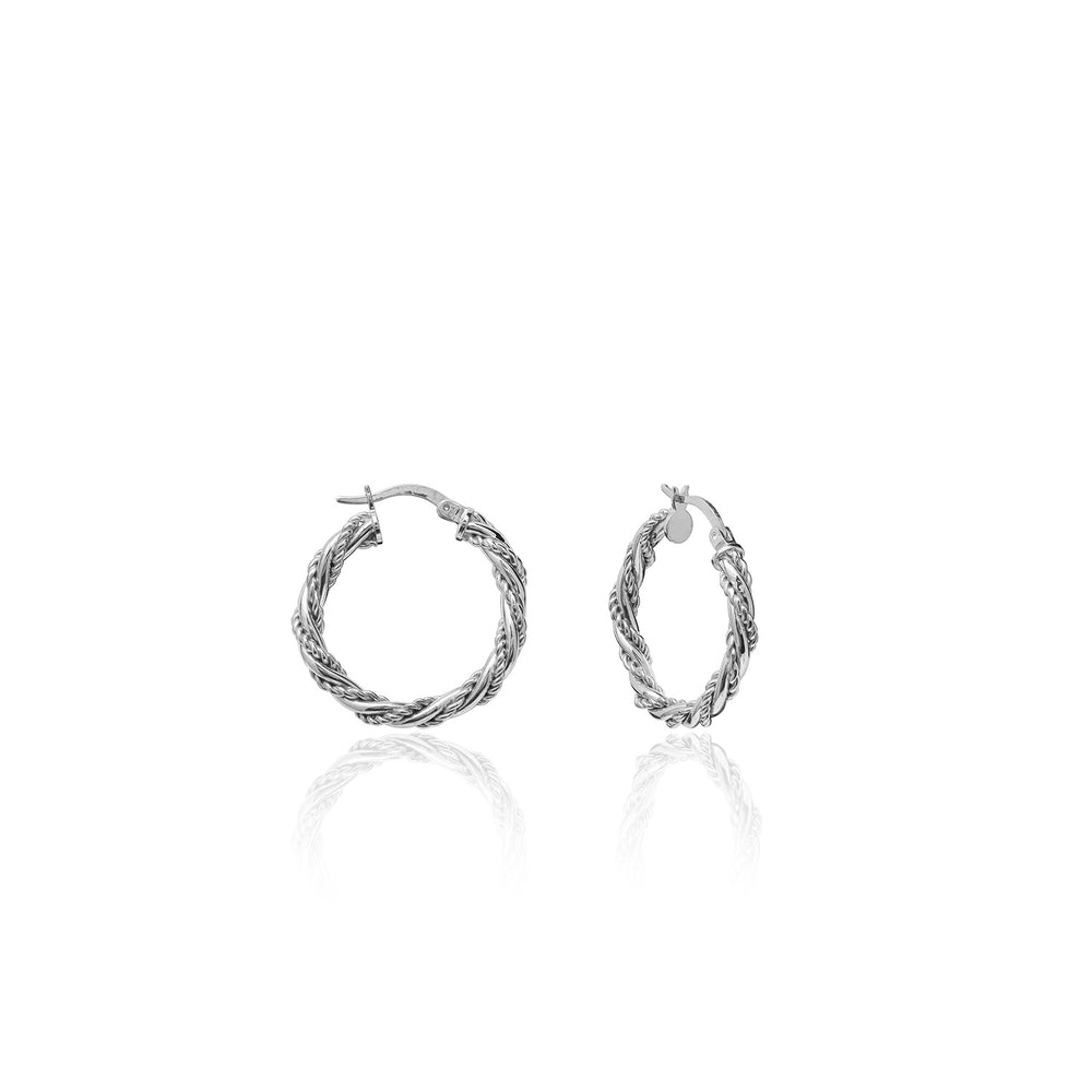 Palmo Sterling Silver Hoop Small & Medium Earrings PLM1668E25