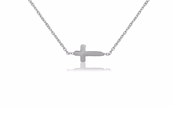 Palmo Sterling Silver Cross Necklace PLM1014NS