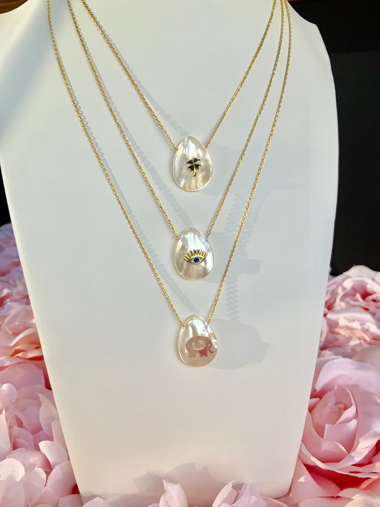 925 Sterling Silver Mother of Pearl Necklaces