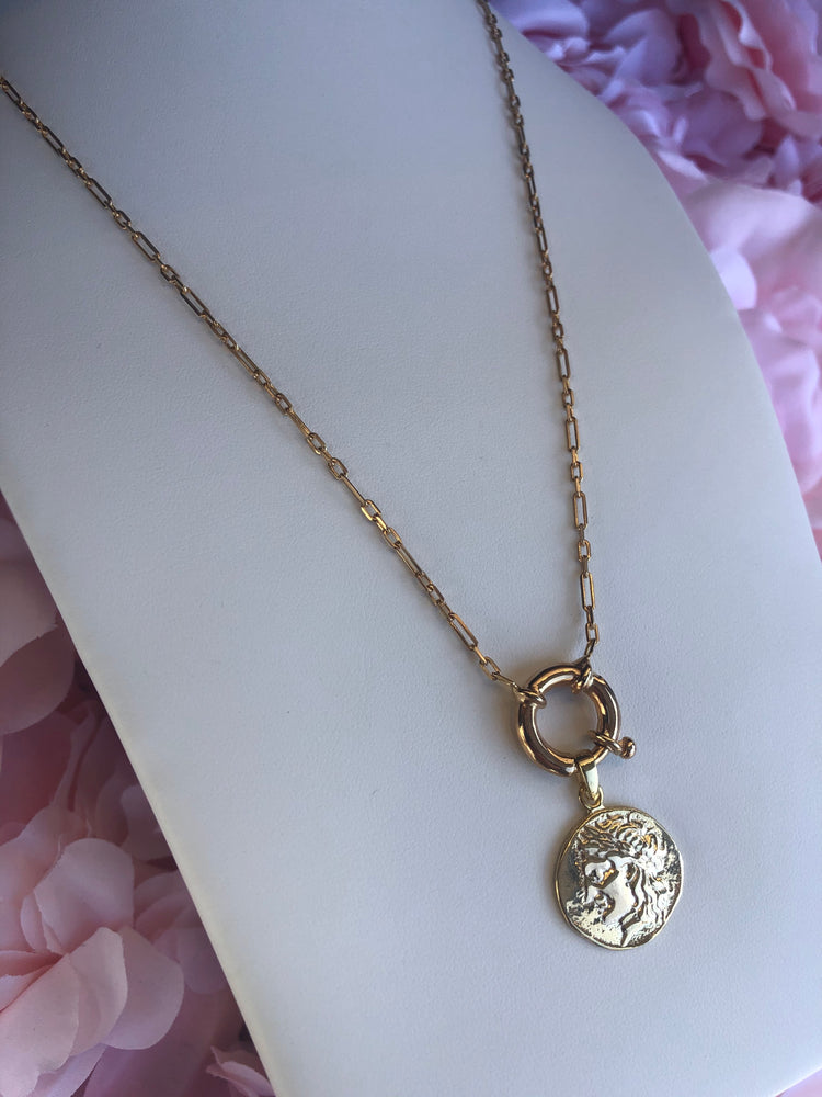 925 Sterling Silver Coin Medallion Necklace