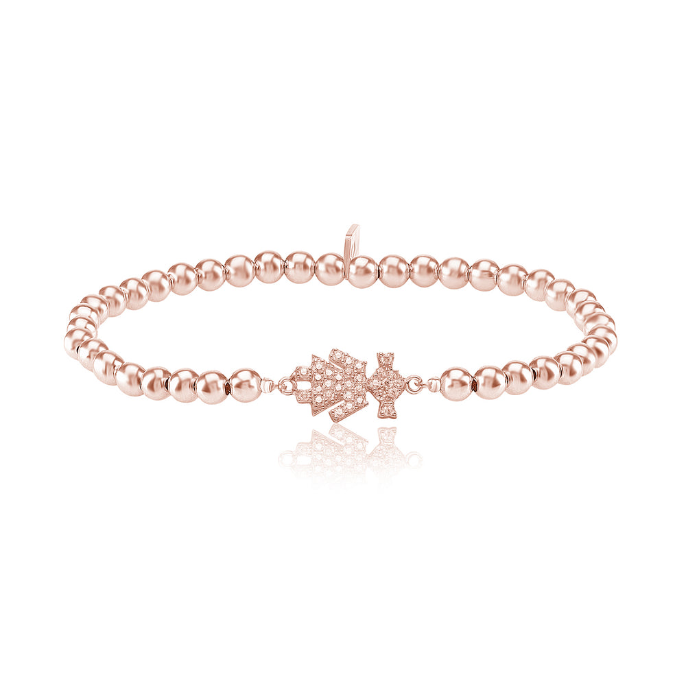 Palmo 18kt Rose Gold Plated Beaded Daughter Bracelet
